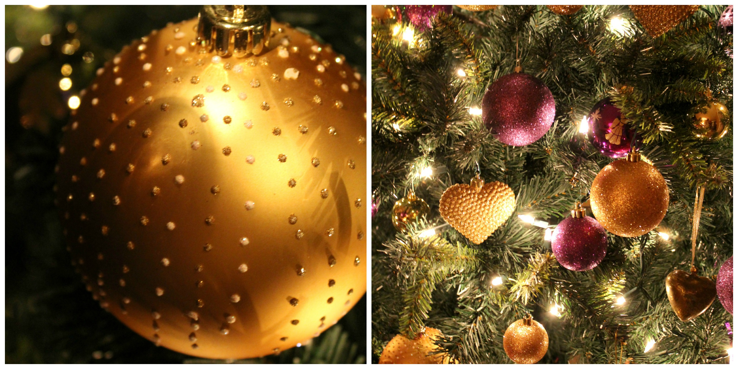 Purple and gold christmas tree decorations - We Have To Have Hot Cocoa Before Any Decorating Can Begin With Baileys Irish Cream Yesss Please